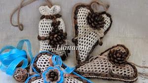 Souvenires al crochet con corazón de café