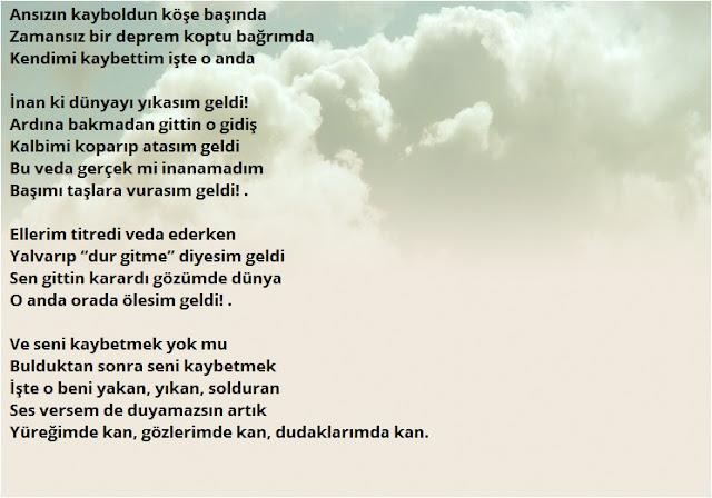 sevgiliye özlem şiirleri