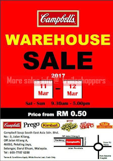 Campbell's Warehouse Sale 2017