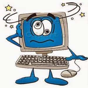 Ilustrasi komputer hang