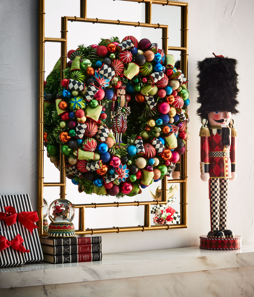 MACKENZIE-CHILDS NUTCRACKER LARGE CHRISTMA WREATH, 30""