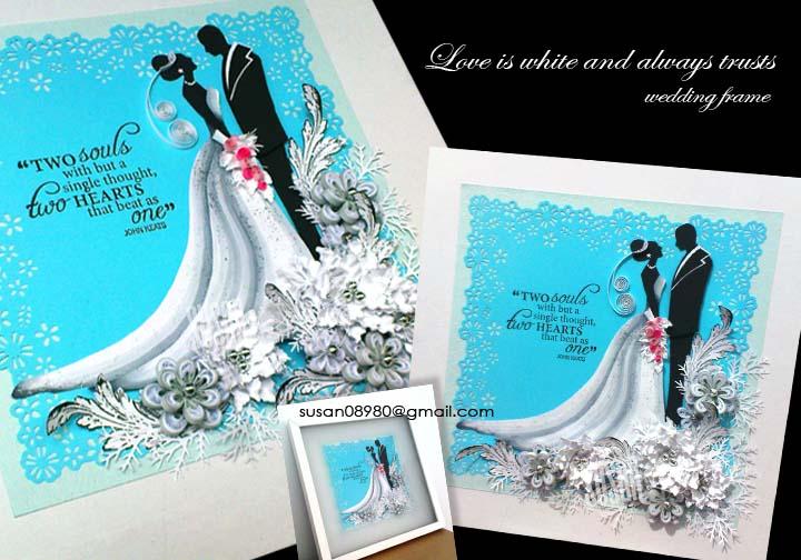 Wedding Frame Love Is White
