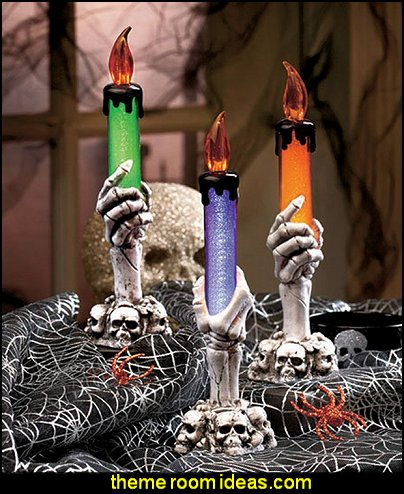 Lighted Halloween Skeleton Candles