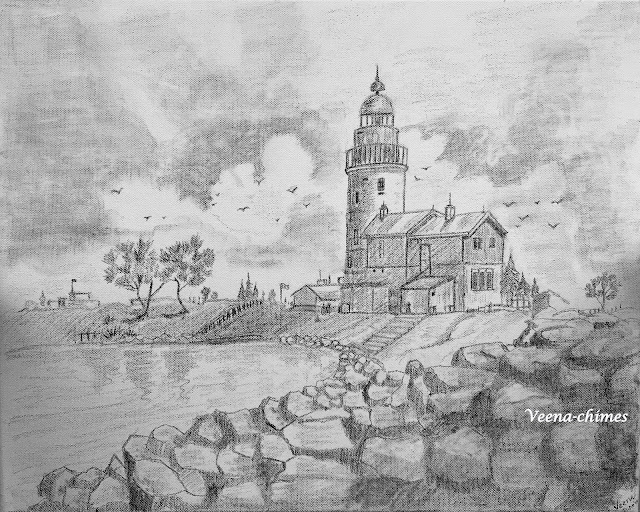 Pencil Drawing- Lighthouse