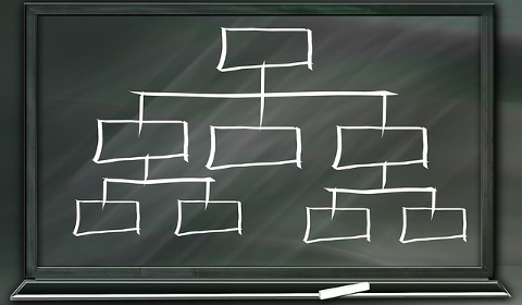 Modèle hiérarchie de l'entreprise