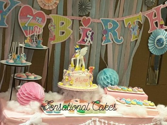 A Unicorn Cake In Party Singapore With Wings Special Dessert Table Setup Sensational