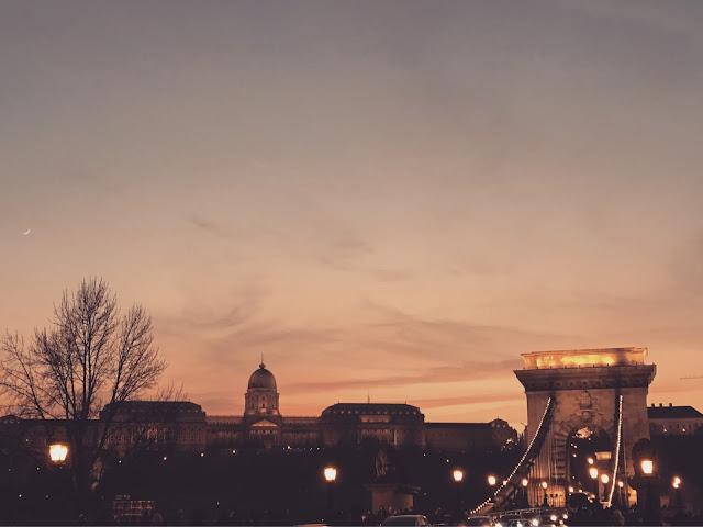 budapest bridge sunset
