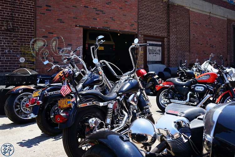 Le Chameau Bleu - Garage à Harley Davidson de Red Hook - Balade dans Brooklyn New York