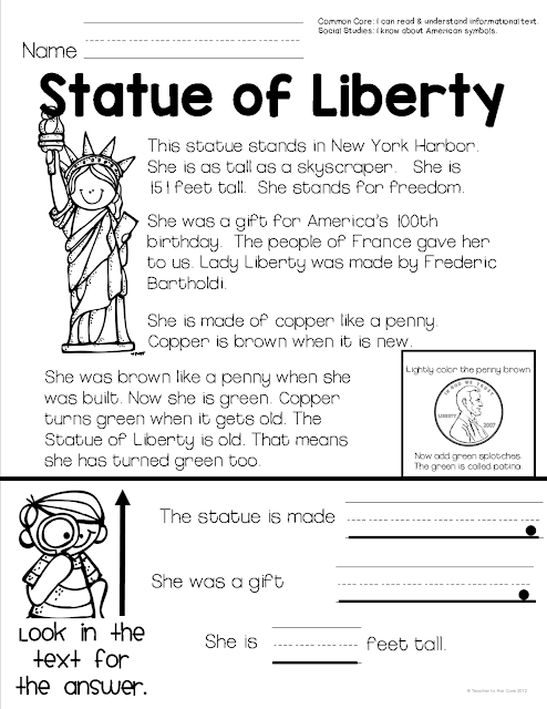 American Symbols Unit by Teacher to the Core includes everything you need