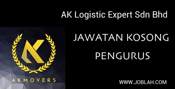 Jawatan Kosong Pengurus di AK Logistic Expert Sdn Bhd