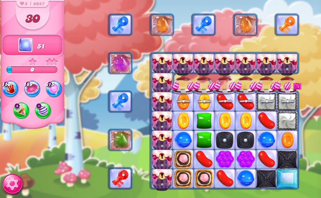 Candy Crush Saga level 6647