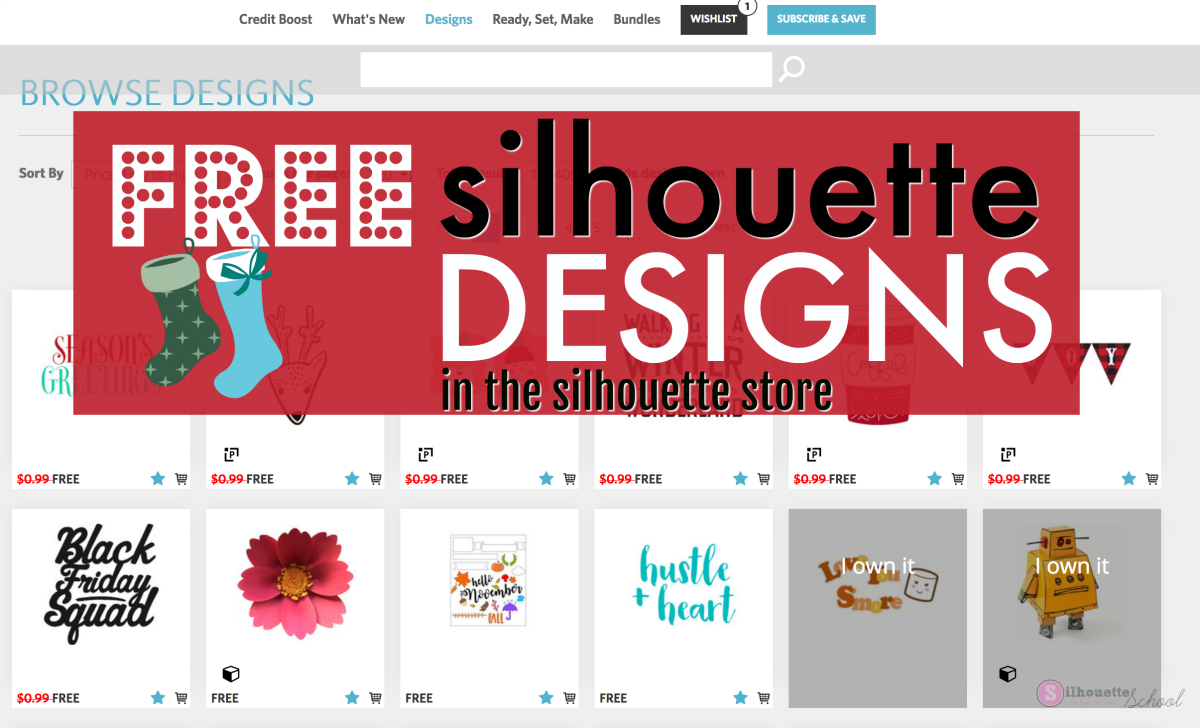Free silhouette designs and svgs from the silhouette for Online designs