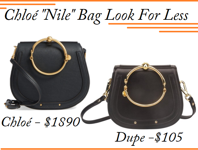 Chloé Nile Bag Dupe, Chloé Nile Lookalike, Chloé Nile dupes, Chloé Bag For Less