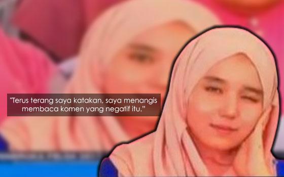Luahan Sayu Gadis Viral Kenyit Mata Di Berita TV3