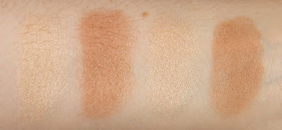 Rimmel Kate Sculpting Palette 002 Coral Glow Bronzer Highlighter Blush Charlotte Tilbury Filmstar Bronze and Glow dupe swatches