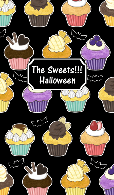 The sweets!!!Halloween(cupcake & candy)