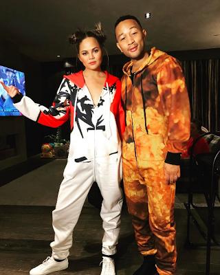 Singer John Legend and his beautiful wife Chrissy Teigen