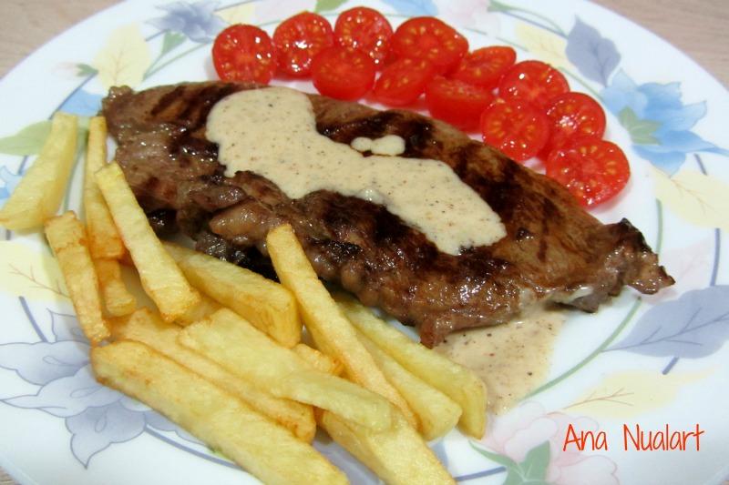 La cocinera de b tulo filete de ternera con salsa de - Filetes de ternera con salsa ...