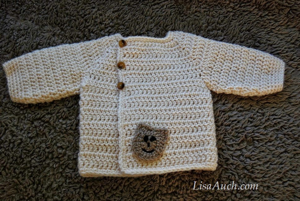 Easy Baby Crochet Cardigan Sweater Patterns - (Newborn -3 months ...