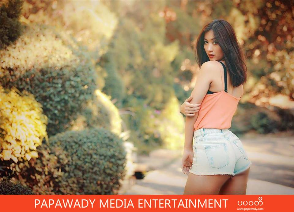 Model Lu Lu Aung Shows Off Her Beautiful Body In Short Tight Jeans Photos