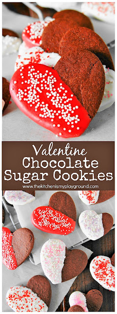 Heart Shaped Valentine Chocolate Sugar Cookies Image