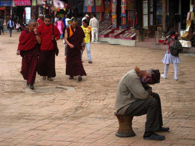 Bodhnath, centro religioso de la población tibetana de exiliados en Nepal