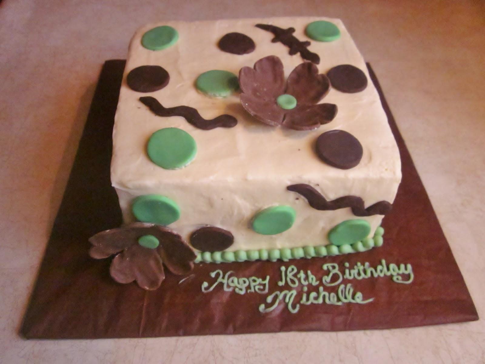 Second Generation Cake Design Snakes Lizards 18th Birthday Cake
