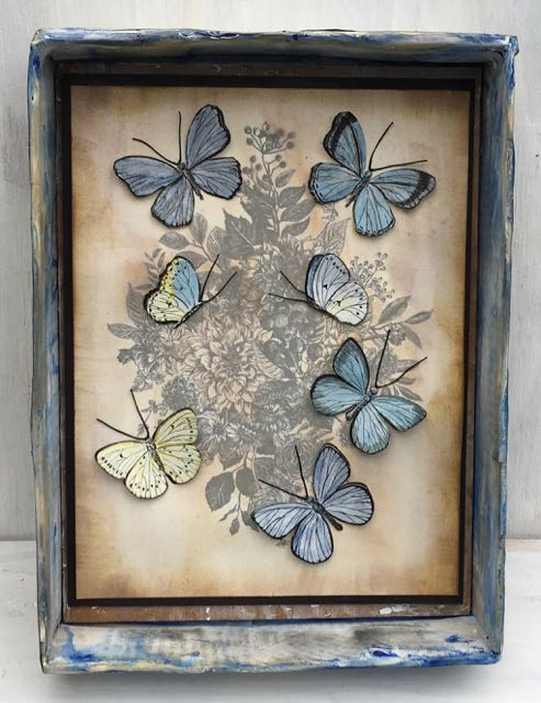 Butterfly Vintage Print photo
