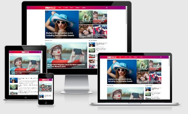 Download Template VioMagz Kolaborasi Template EvoMagz Gratis Full Fiktur