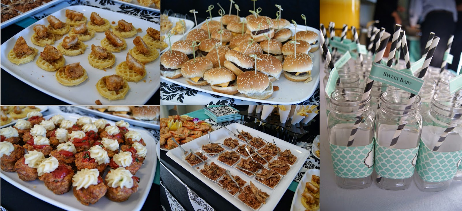 party inspiration, breakfast at tiffany's party, allthingsslim, mini sliders,