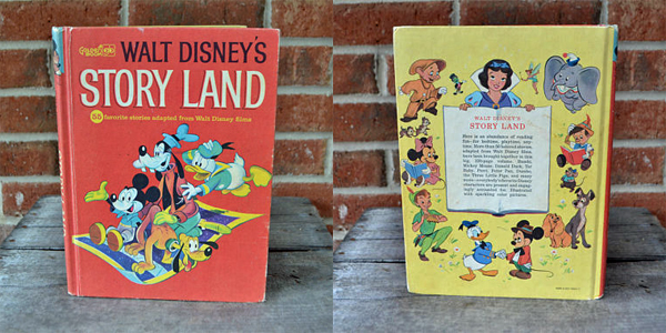 images of the front and back covers of Story Land