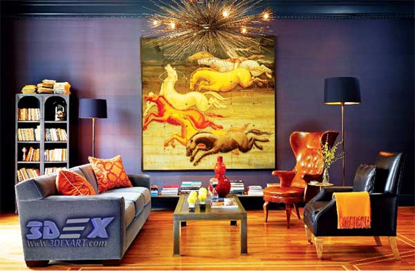 Oil painting on canvas for modern interior wall art for Oil painting for living room
