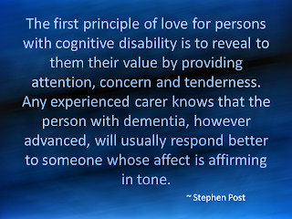 Quote - Love for Persons with Dementia | Alzheimer's Reading Room