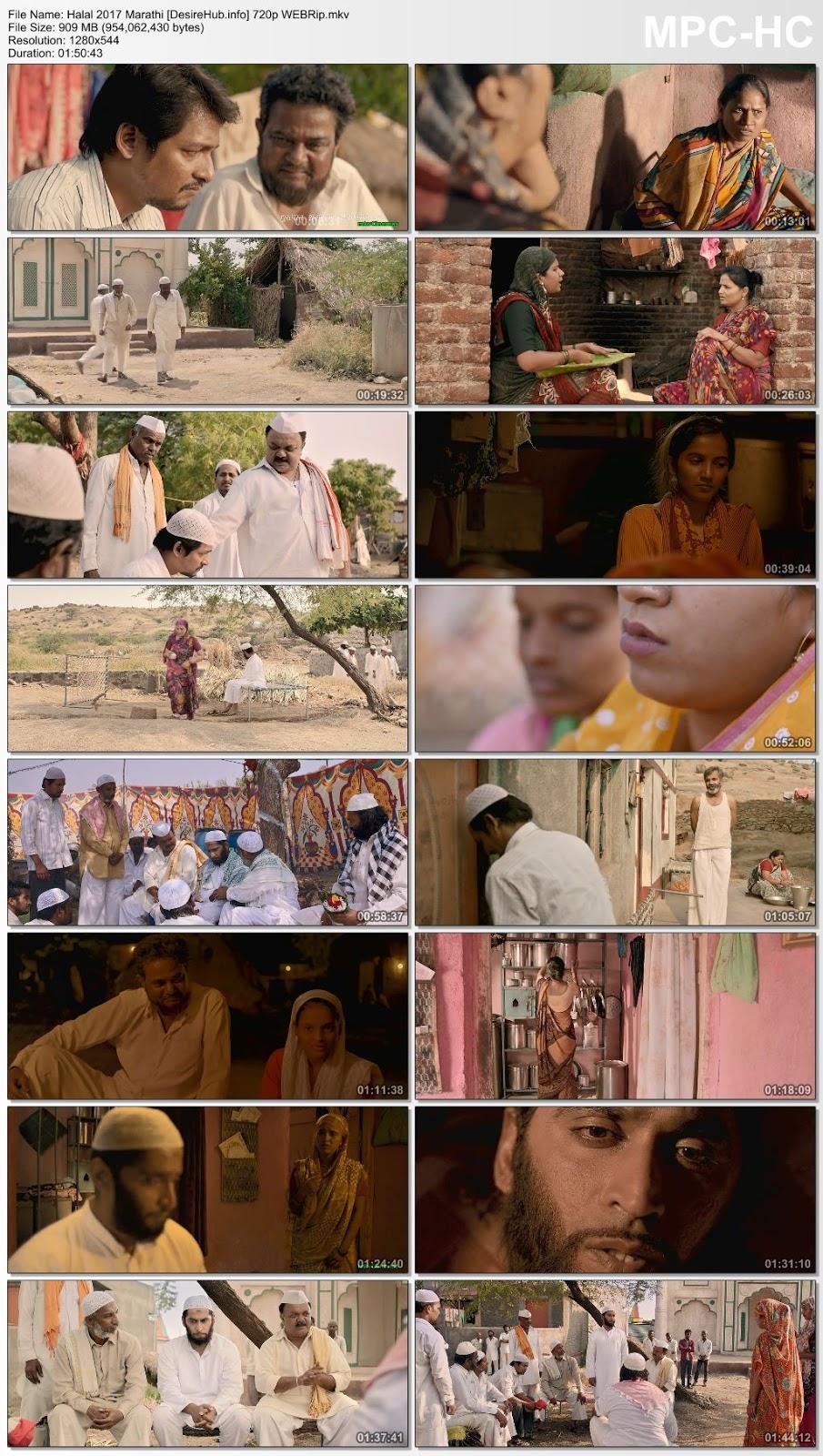 Halal 2017 Marathi 480p WEBRip 300MB Desirehub
