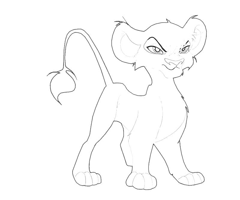 Lion King 2 Vitani And Kopa Coloring Pages Coloring Pages