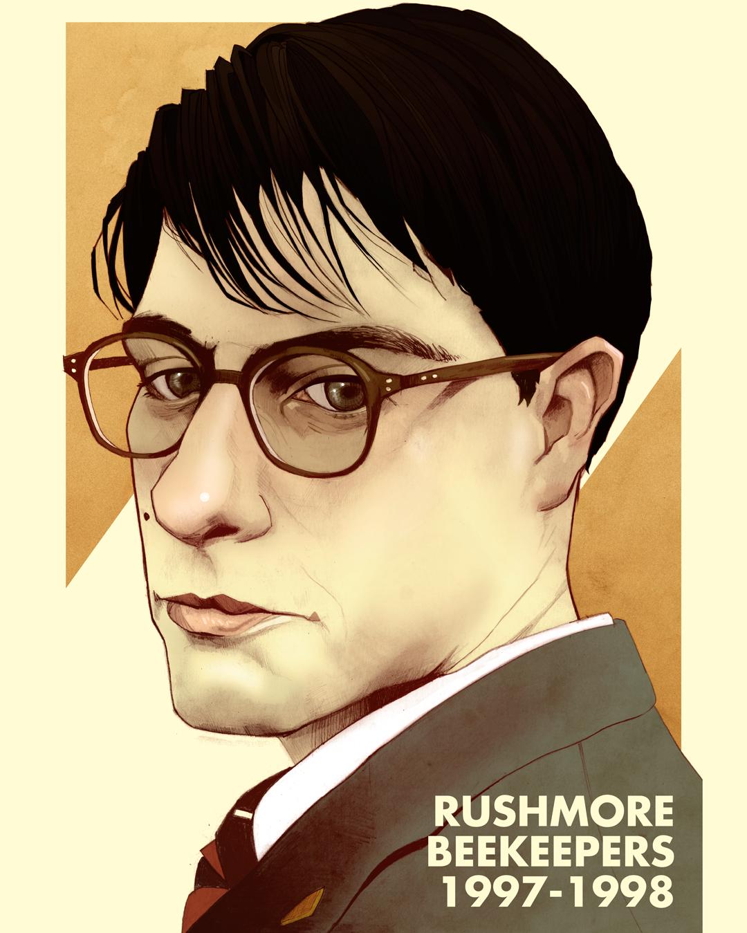 Jason Schwartzman Wes Anderson Rushmore Art