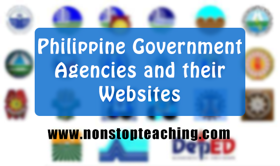 List of the Philippine Government Agencies and their Websites