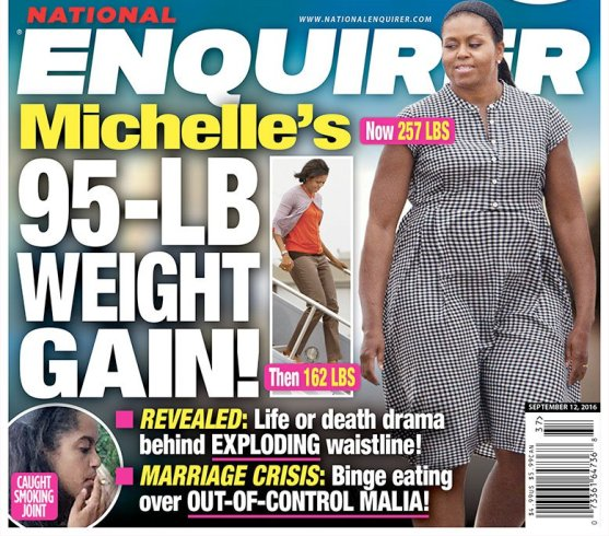 Imagine what National Enquirer did to First Lady Michelle Obama