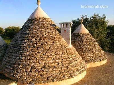 Casas Trulli en Apulia, Italia