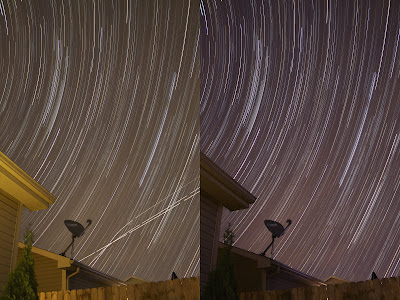 before and after photoshop star trails