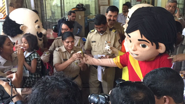 Nicktoon Shiva  & Motu Patlu celebrates Children's Day with Mumbai Police