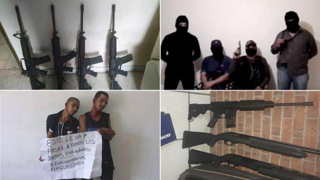 """Ahora """"justicieros"""" encapuchados salen a combatir el crimen soy El Comandante Manuel"""