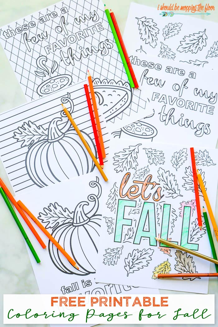Free Printable Coloring Pages for Fall