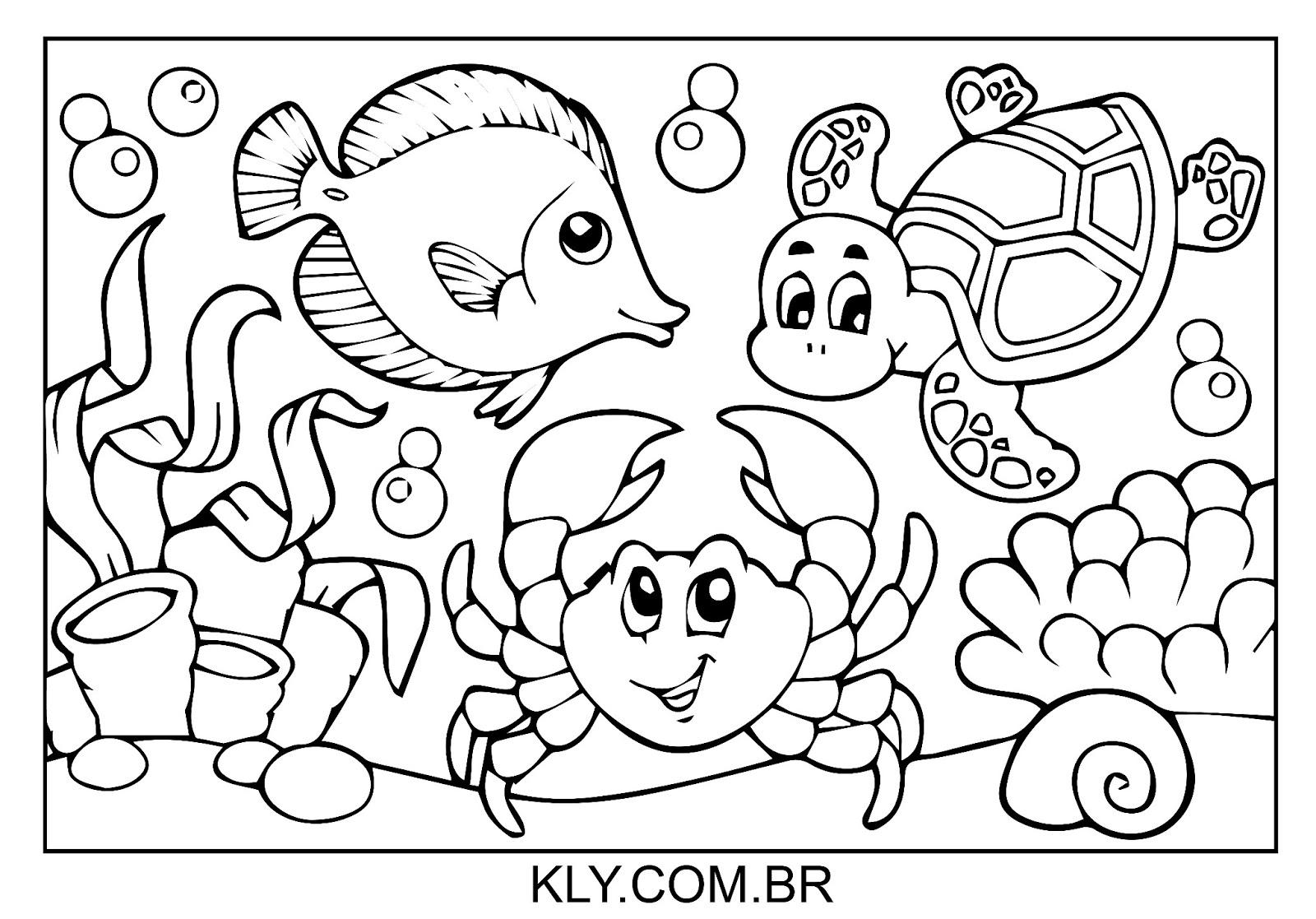 Desenho De Animais No Fundo Do Mar Para Colorir Desenhos Para