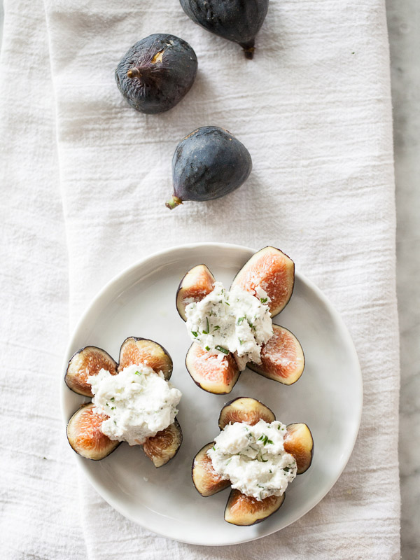 Style mix: Sophisticated | Classic | Rustic | Goat cheese stuffed figs via Foodie Crush