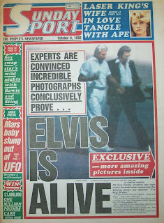 front cover of the Sunday Sport newspaper from 9th October 1988