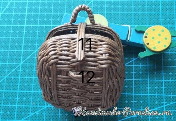 Плетение сумки из проволоки для куклы (12)