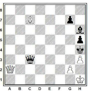 Estudio artístico de ajedrez compuesto por G. M. Kasparian (Shajmati v SSSR, 1934)