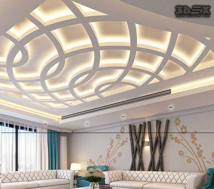 Latest pop design for hall 50 false ceiling designs for for Modern living room design ideas 2018