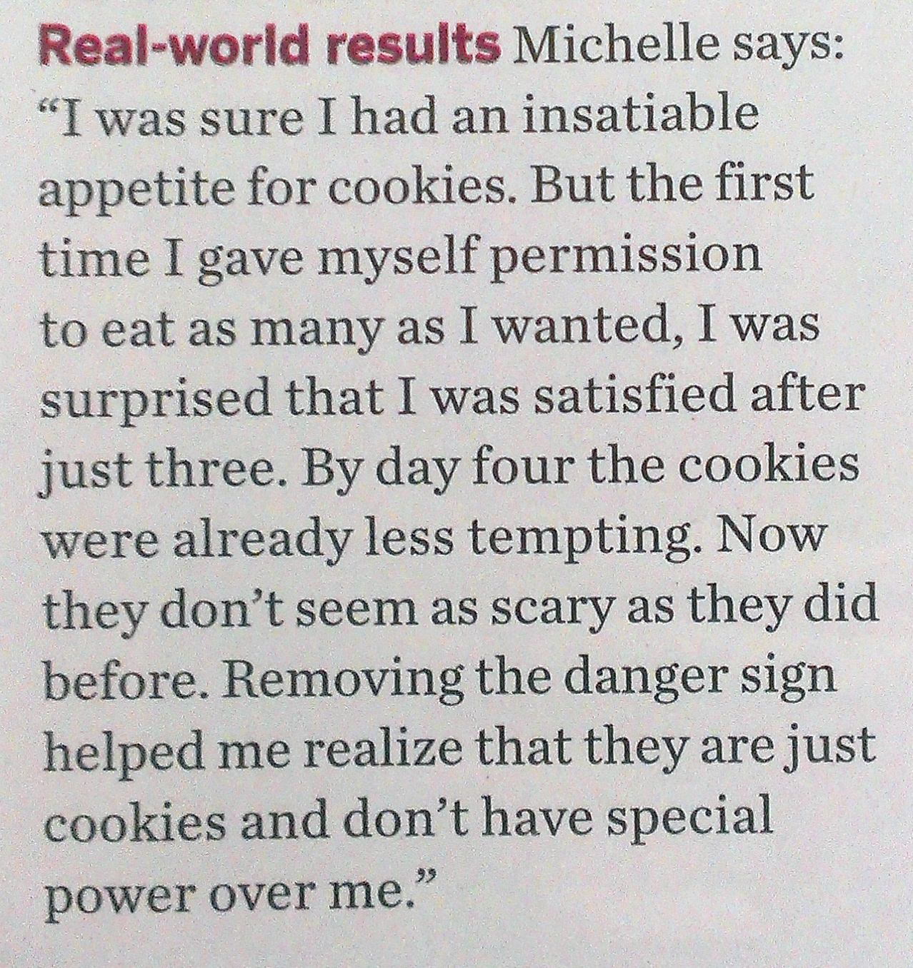 Diary of an Aspiring Loser: Intuitive Eating - in Fitness Magazine!